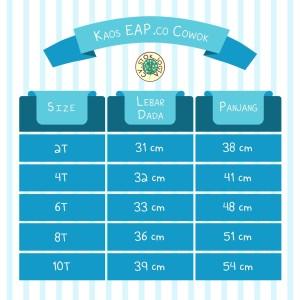 Tabel ukuran kaos EAP - Lengan pendek
